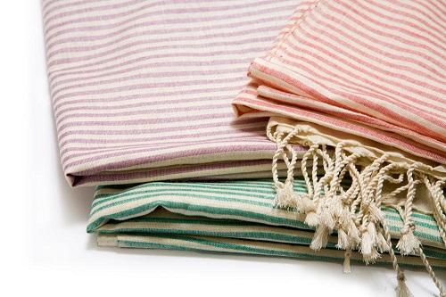Natural Silk Stripe Scarves